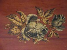 Box Handmade Folk Art Prison Art Wood Box Satin Lined by MOJEART