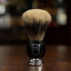 Parker Shaving Brush, Deluxe Pure Badger Black