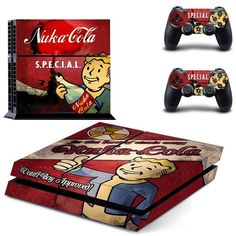 *NEW* PS4 SKIN Featured Game 'Fallout 4' Features : - (2) Controller Skins - (1) Console Skin