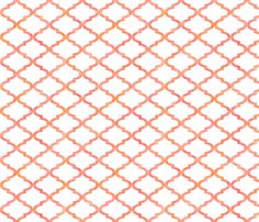 Patterned rose Moroccan quatrefoil fabric by su_g on Spoonflower - custom fabric