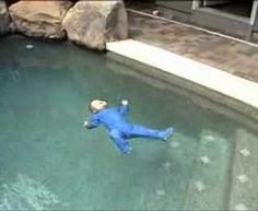 Infant Swimming Resource - Miles Self-Rescue. Incredible training that could save many lives!!! My child will do this!