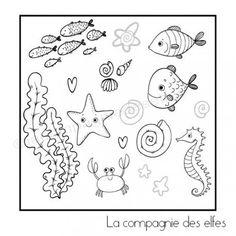 Tampon poissons et mer, https://www.la-compagnie-des-elfes.fr/