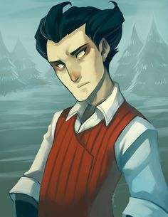"""allinyourimagination: """"The Gentleman Scientist by BloodnSpice I saved wilson to do the painting experiment cus he's my favorite of the Don't Starve Characters and I knew trying to figure out his hair would be a BLAST. I wanted to time myself with SAI..."""