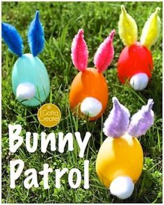Easter Bunny Tutorial using plastic eggs and chenille stems