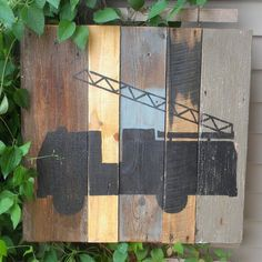 Rustic Barn Wood Art (Fire Truck)