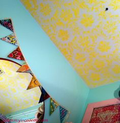 mommy is coo coo: Emmaline's Stenciled Ceiling
