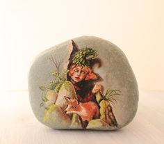 Painted stone. Painted rock Ready to ship. Little by sabiesabi