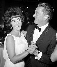 Elizabeth Taylor and Kirk Douglas