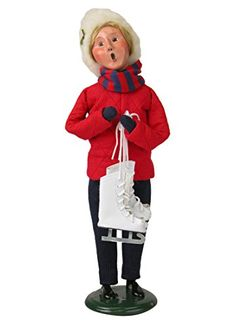 Byers Choice Snow Day Woman with Skatesl 2015 * You can get additional details at the image link.