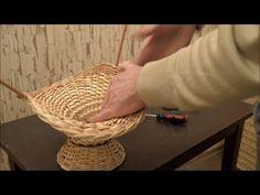 """Плетение из лозы-Корзинка""""Шляпка""""-Wickerwork - YouTube"""