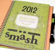 A smash book (journal mixed with quickie scrapbook) shared between friends. What a fun idea :) tricia bought me one for my birthday...love it.