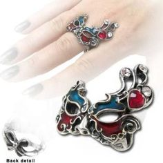 Venetian Mask Ring by Alchemy Gothic, England