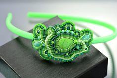 Soutache Headband - Green Soutache Headband - Light Green Soutache Headband - bridesmaid hairband - hair accessory - bridal hairband - OOAK