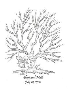 baby shower thumbprint tree template wedding tree pinterest