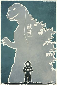 Godzilla 1954, fan art movie poster: Series 2 by MyPetDinosaur on Deviantart.com - Check out our podcast https://www.facebook.com/ScreenWolf and https://twitter.com/screen_wolf