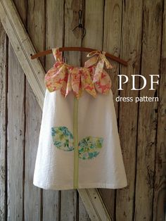 Sunny Flower - Pillowcase Dress Pattern Tutorial. Girl's Dress Pattern. Girl's Sewing Pattern. Easy Sew Sizes 12m thru 10 included. $7.50, via Etsy.