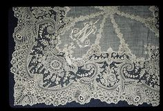 Lace Handkerchief, Belgian (Brussels), 19th century.