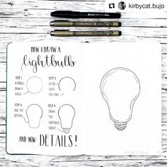 """6,495 Likes, 84 Comments - Liz • Bullet Journal (@bonjournal_) on Instagram: """"Today's tutorial is how to draw a 🍍🍍🍍!! Swipe to see the entire process with COLOR and a video. . .…"""""""