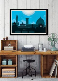 Florence art skyline Florence Italy Florence by ConsiderGraphics