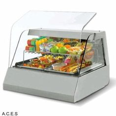 Catering Equipment  : Dimension (WxDxH): 1200x730x600 click here : www.auscaterquip....   Benchtop Food Displays » ROLLER GRILL Hot/Cold GN Display 675w