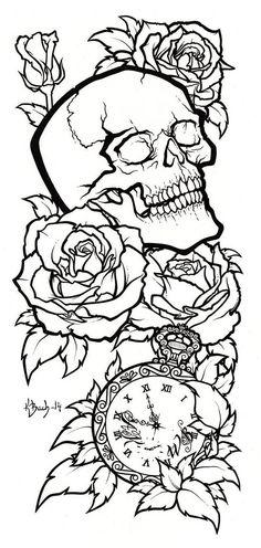 Cat Skull Tattoo, Bull Skull Tattoos, Sugar Skull Tattoos, Skull Tattoo Design, Tattoo Design Drawings, Tattoo Designs Men, Body Art Tattoos, Sleeve Tattoos, Leg Tattoos