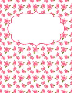 Pink Flower Binder Cover