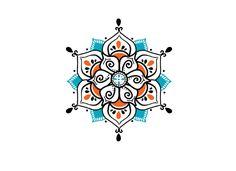 Blue Henna Mandala Temporary Tattoo | myTaT.com