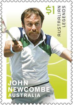 Issued John Newcombe -Series - Legends of Singles Tennis John Newcombe, Lleyton Hewitt, Tennis Australia, Tennis Legends, Vintage Tennis, Different Sports, World Of Sports, Sports Stars, Sports Photos