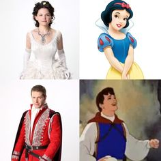 Once upon a time characters matched with Disney (Snow White and Prince Charming)