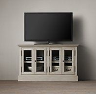 "French Casement 54"" Media Console Glass Doors"