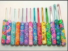 Make Your Own Decorative Crochet Hooks How many of you have looked at the craft stores and yarn shops for those pretty chunky-handled crochet hooks with designs that range from plain to bizarre? Yeah, me too….didn't find them. Here's some instructions on how to make your own fancy-handled crochet hooks. You're only limited by your …