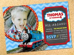 Thomas train ticket printable birthday ticket invitation card diy custom invitation design thomas train solutioingenieria Image collections