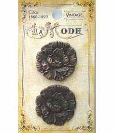Vintage Button 1860-1899 2個セット材質:メタリック(外国製のため詳細は不明ですが、プラスチックよりは重く、洗濯やドライクリーニングは...|ハンドメイド、手作り、手仕事品の通販・販売・購入ならCreema。