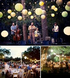 Romantic garden wedding. Reminds me of my roommate! Lol