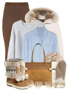 """""""Winter Warm Up"""" by brendariley-1 ❤ liked on Polyvore featuring Balmain, Woolrich, Vanessa Bruno, Acne Studios, UGG Australia, Helly Hansen and Ray-Ban"""