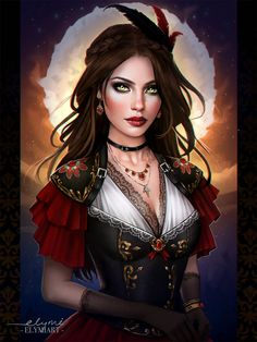 Face Drawing - Face Drawing Commission: Diane De Valombre Half Body by elymiart on DeviantArt – - Fantasy Girl, Chica Fantasy, Fantasy Art Women, Beautiful Fantasy Art, Fantasy Portraits, Character Portraits, Fantasy Artwork, Art Anime Fille, Anime Art Girl
