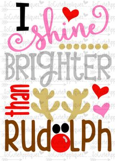 SVG DXF EPS cutting file I shine brighter than by SoCuteAppliques