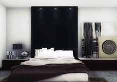 nice 46 Stylish and Sexy Masculine Bedroom Design Ideas  http://about-ruth.com/2017/12/08/46-stylish-sexy-masculine-bedroom-design-ideas/