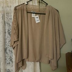Shall Beige shall.....really nice over a t-shirt or tank Charlotte Russe Tops