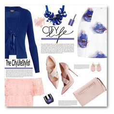 """""""Blue Kiss"""" by tinayar ❤ liked on Polyvore featuring MSGM, P.A.R.O.S.H., Rumour London, WearAll, Valentino, Sensai, Vapour Organic Beauty and Bare Escentuals"""