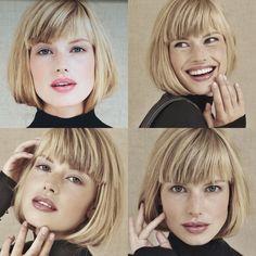 Pin af Sandra Dom på kort hår i 2019 - - Hallo Short Haircuts With Bangs, Bob Haircut With Bangs, Hairstyles With Bangs, Short Hair Cuts, Short Hair Styles, Pinterest Hair, Great Hair, Hair Today, Hair Dos