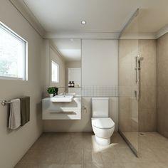 modern bathroom in brand new apartment