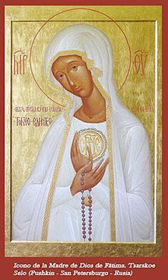 Spe Deus: Ícone oriental de Nossa Senhora de Fátima entronizado na Capelinha em 2010