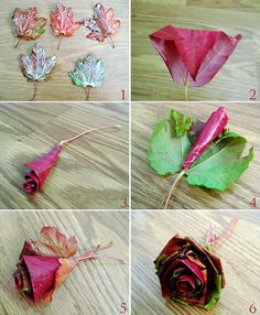 How to DIY Fall Leaf Rose Flower Bouquet | www.FabArtDIY.com LIKE Us on Facebook ==> https://www.facebook.com/FabArtDIY