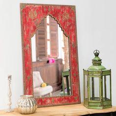 Specchio in legno scolpito Anish