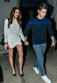 19 months strong! Nick Jonas took his girlfriend Olivia Culpo to dinner at Craig's in Beverly Hills Sunday night