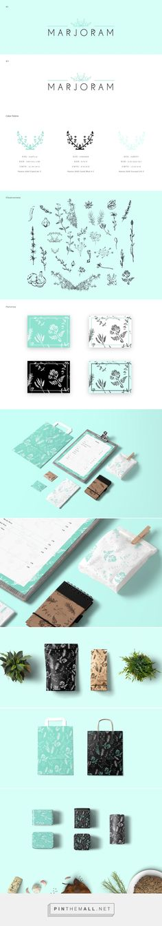 Marjoram packaging and branding on Behance curated by Packaging Diva PD. Marjoram is a cosy & elegant restaurant for unusual guests, who appreciate the unique flavors and beauty.