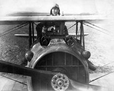 Eddie Rickenbacker in his SPAD S.XIII