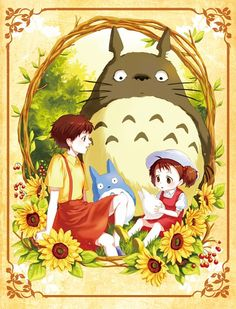 My neighbor totoro hayao miyazaki studio ghibli / kusakabe satsuki, kusakab Hayao Miyazaki, Studio Ghibli Art, Studio Ghibli Movies, Totoro Drawing, My Neighbour Totoro, Le Vent Se Leve, Disney Fan Art, Illustrations, Wallpaper