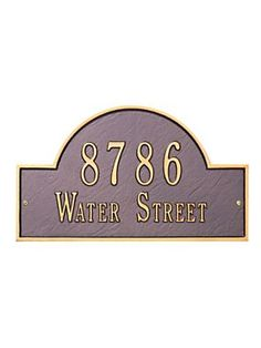 Arch Wall Address House Number sign plaque | Solutions